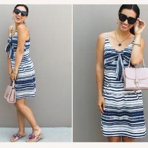 Cabi Knot dress! Size XS! Blue and white!
